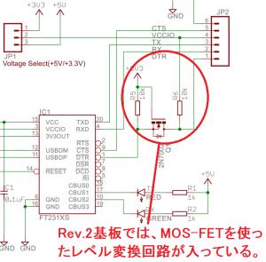 Rev.2基板のDTR信号ライン