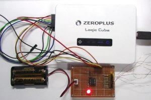 ZEROPLUSのLAP-Cでデバッグしている風景