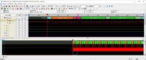I2C信号を解析している様子