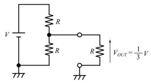 負荷の付いた分圧回路