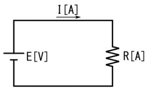 オームの法則の解説用回路図