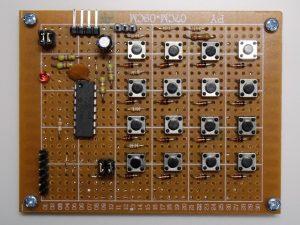 試作したI2C接続のキーパッド