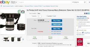 ebayの接写リング販売ページ