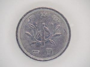 クローズアップレンズで接写した1円玉