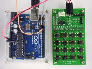 Arduino UnoにI2C接続したキーパッド基板