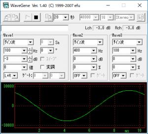 WaveGeneの画面