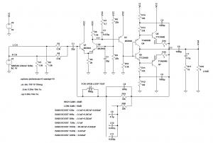製作したAB級アンプの回路図