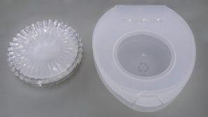 フィルター用のプラスチックケースの例