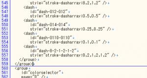 dashグループに二点鎖線のエントリを追加