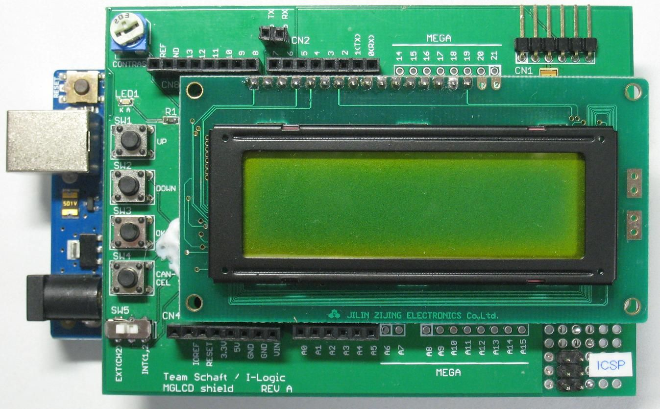 Making 122x32 monochrome graphic LCD shield (Rev  A) for Arduino (2)